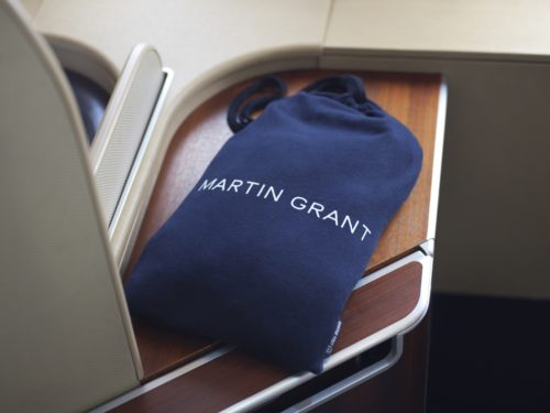 Qantas First Class Martin Grant Pajamas - Drawstring Bag