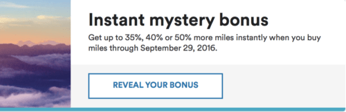 Alaska is Offering a Mystery Bonus on Miles Purchase