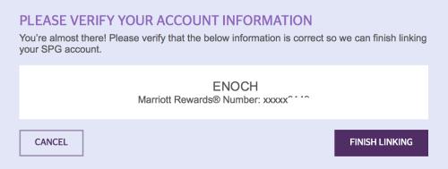 Verify your Marriott Rewards number