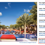 Visit Marriott's website to transfer points from Marriott to SPG