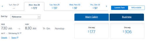 American Airlines' inaugural flight to Havana is now bookable on AA.com