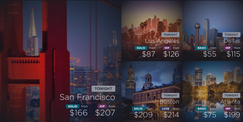 HotelTonight allows you to make last-minute bookings in selected cities