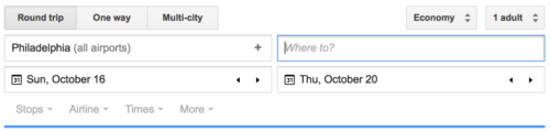 Use Google Flights like you would use an online travel agency