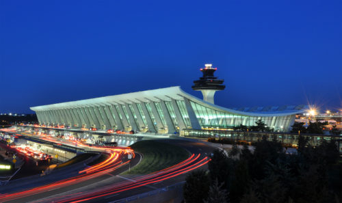 Washington Dulles Airport ATC in the background. Photo by Joe Ravi, used with permission.