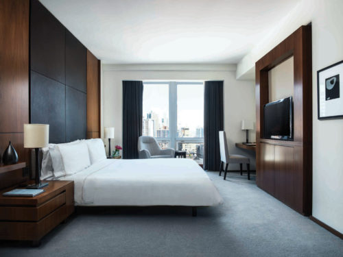 Langham Place New York, one of the hotels where you can experience the DUX bed