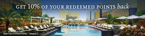 Get 10% of your redeemed points back