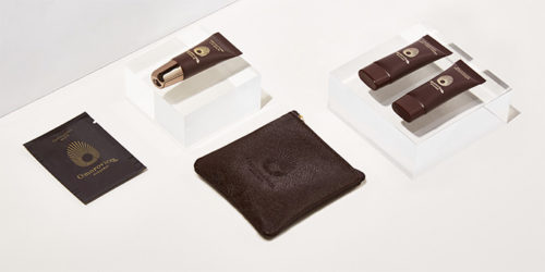 Omorovicza products in Etihad's new First Class amenity kit