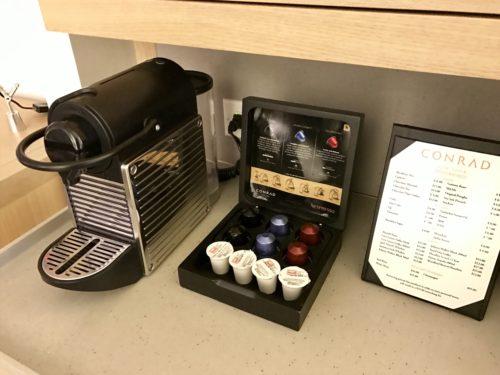Conrad New York Deluxe Suite - Nespresso Machine