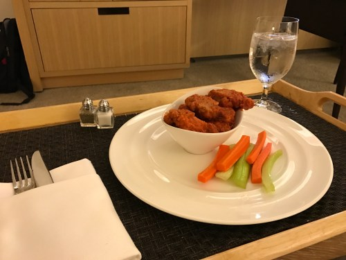 Conrad New York Room Service - Buffalo Wings