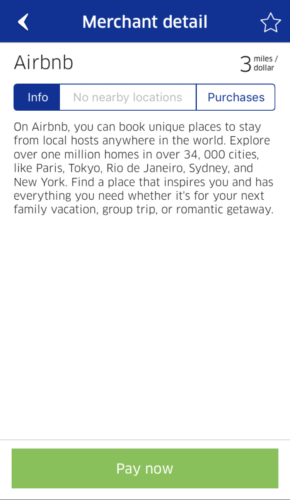 Earn 3 United miles per dollar spent on Airbnb