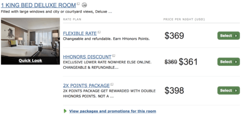 Hilton offers a HHonors discount for members