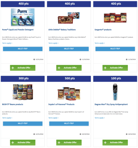 Earn Plenti points on grocery store items by linking your grocery store loyalty card