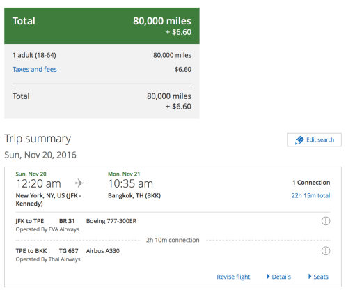 United prices out JFK-BKK correctly