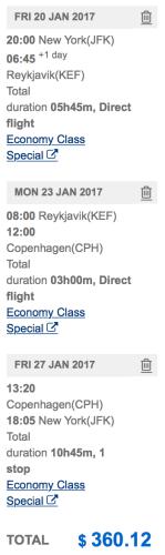 Visit Reykjavik AND Copenhagen from New York for ~$360!