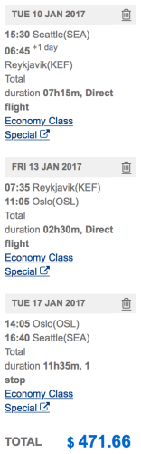Visit Reykjavik AND Oslo from Seattle for less than $500!
