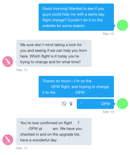 An American Airlines agent helped me rebook a flight on Twitter