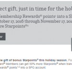 This targeted offer allow you to get a 50% bonus when you transfer Amex points to SPG
