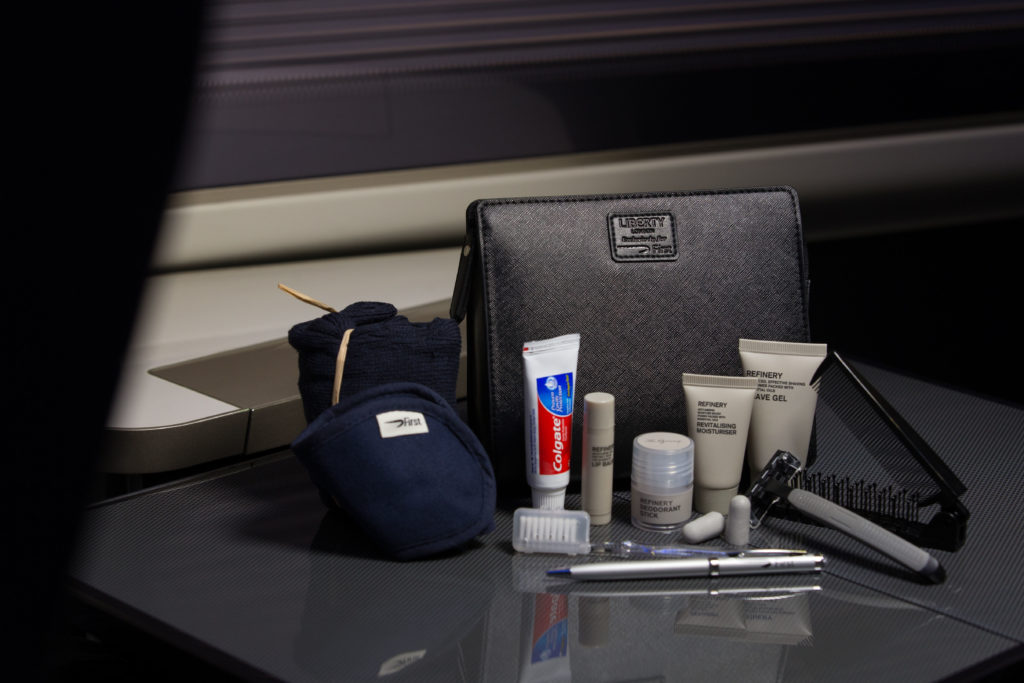 British Airways First Class Amenity Kit by Liberty London. British Airways/Stuart Bailey