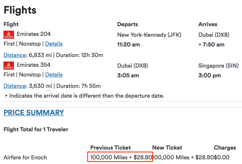 Booking my Emirates flight with Alaska pre-devaluation