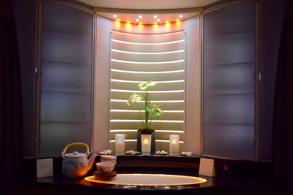 Emirates A380 Shower Spa Display