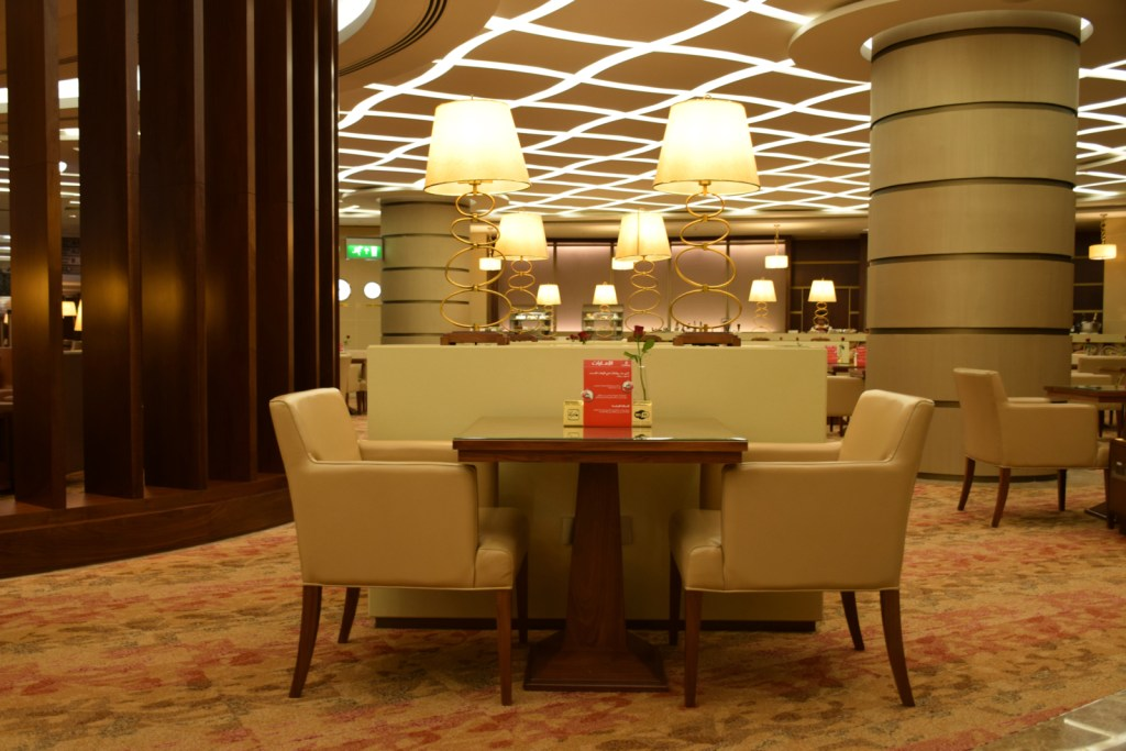Emirates First Class Lounge Dubai Concourse A - Formal Dining Area