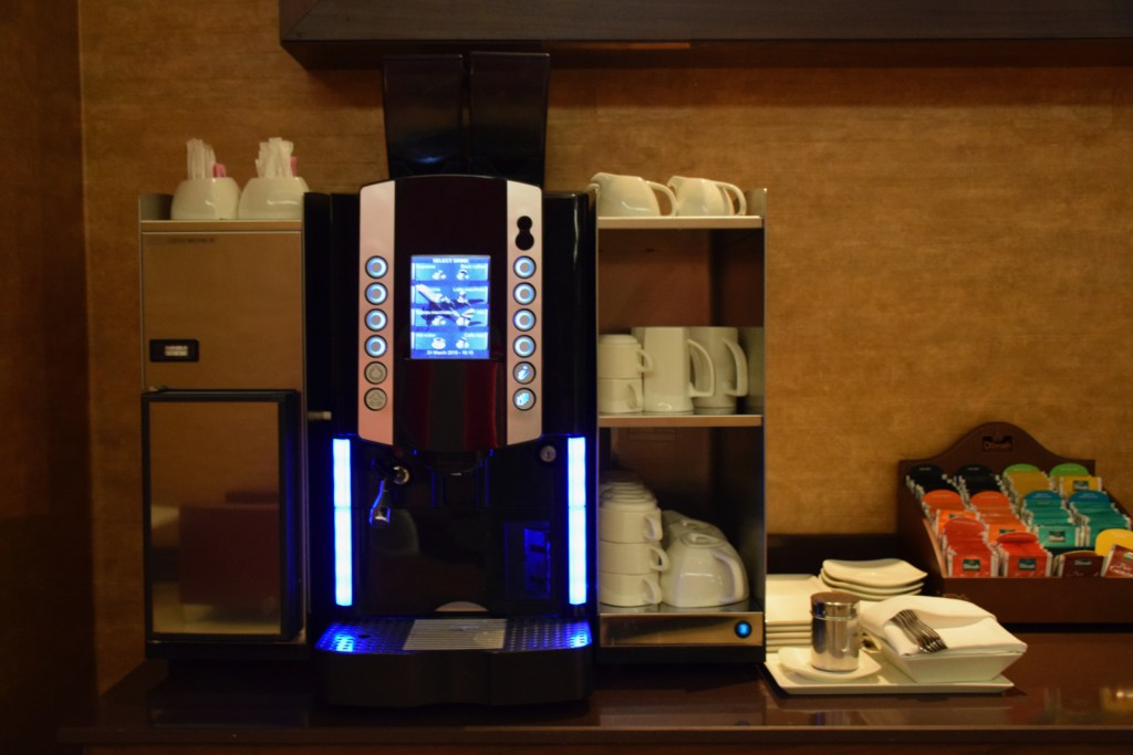 Emirates First Class Lounge Dubai Concourse A - Coffee Machine
