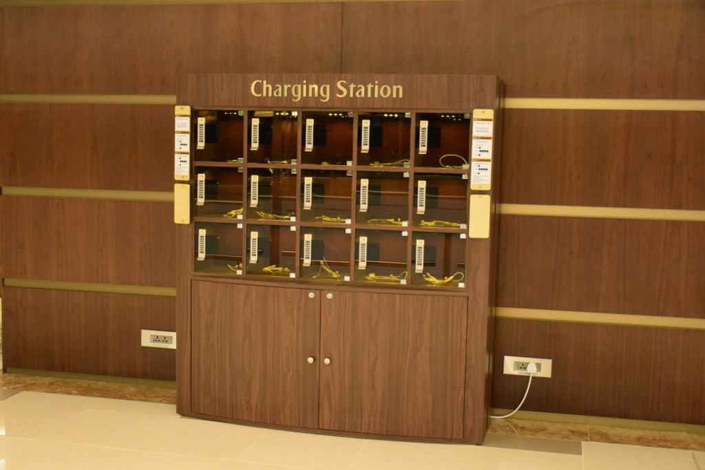 Emirates First Class Lounge Dubai Concourse A - Charging Stations