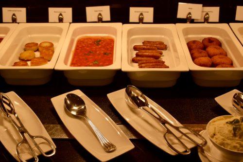 The Emirates Lounge JFK Hot Dishes