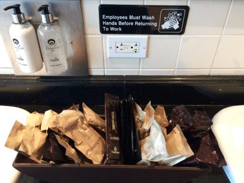 The Emirates Lounge JFK Bathroom Amenities