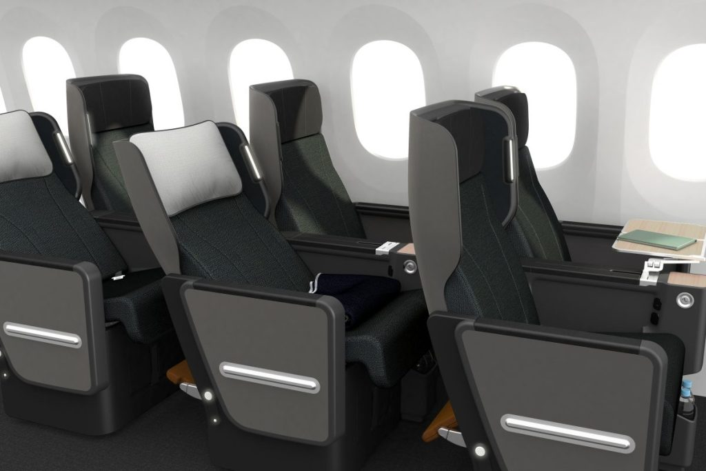 The new Qantas Premium Economy product will debut on the Boeing 787-9. Source: Qantas