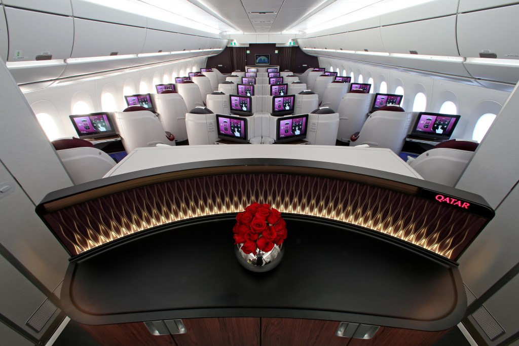 Qatar Airways Business Class A350. Qatar Airways/Flickr super business class