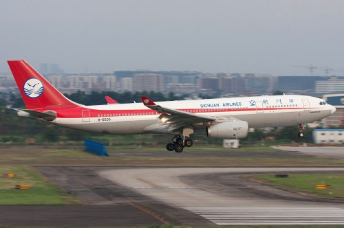 Sichuan AIrlines A330. Photo by 3GO*CHN-405/mjordan_6, used with permission.