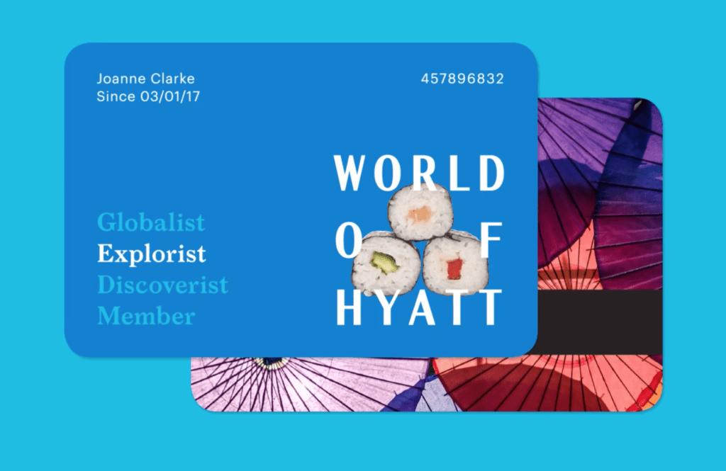 Rendering of an Explorist Card with World of Hyatt