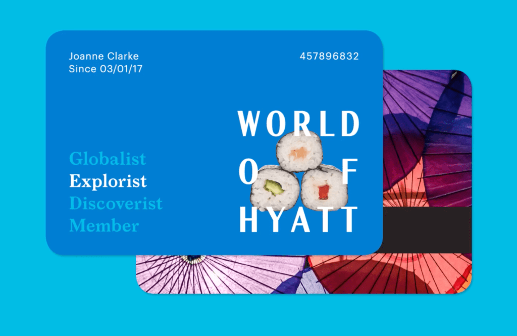 Rendering of an Explorist Card with World of Hyatt