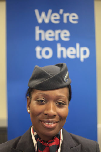 British Airways agent at London City Airport. Source: British Airways call center