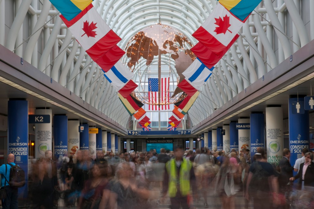 Terminal 3 at Chicago O'Hare International Airport. O'Hare Intl Airport/Flickr strike