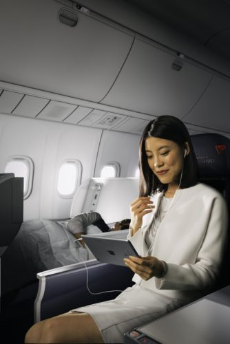 Delta ONE (Business Class) onboard the Boeing 767-300ER. Source: Delta
