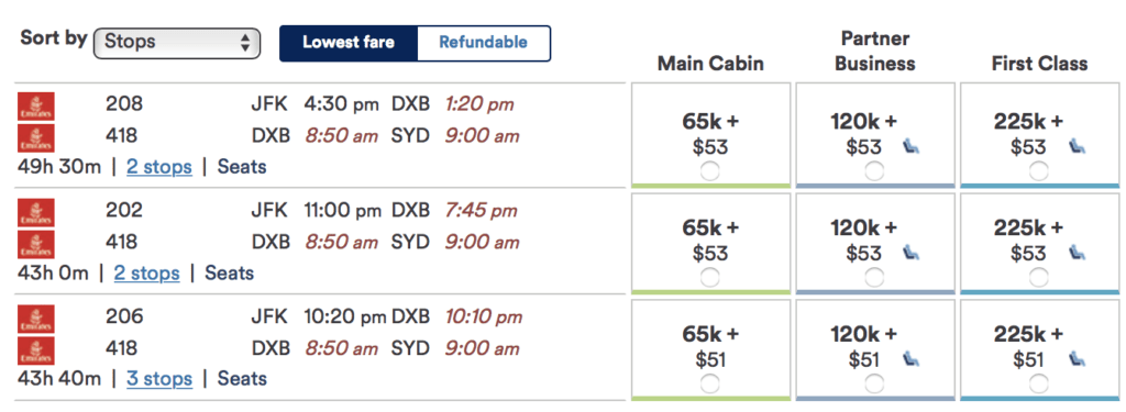 You can now use Alaska Airlines Mileage Plan miles to redeem Emirates flight from the US to Australia!