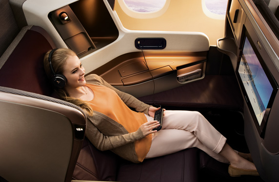Singapore Airlines' New Business Class onbaord the A350. Source: Singapore Airlines