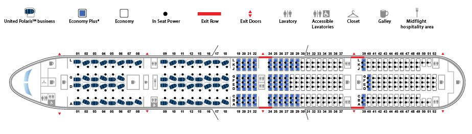 Seat Map for United's 777-300ER. Source: United