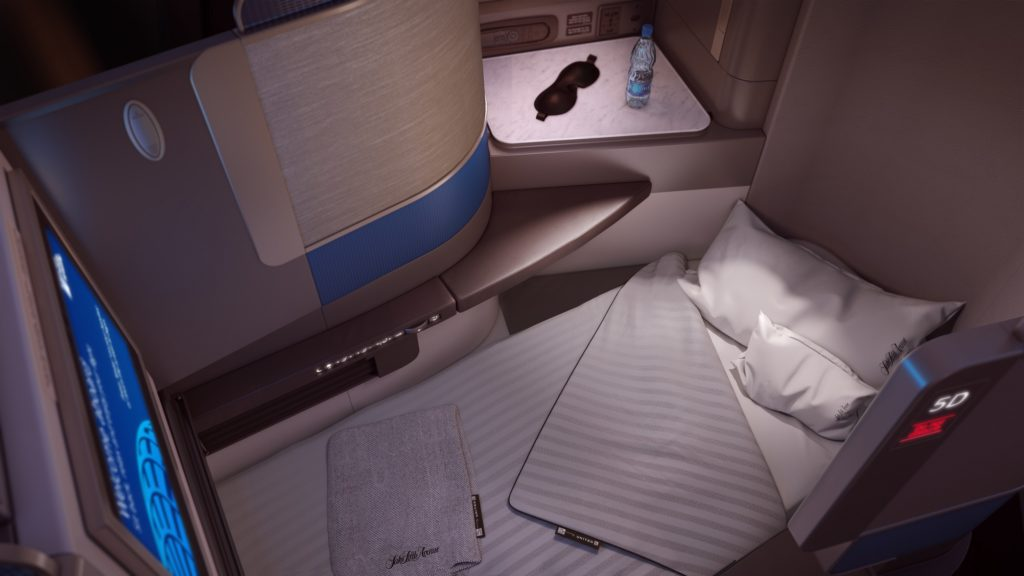 United's new Polaris (Business Class) Seat. Source: United