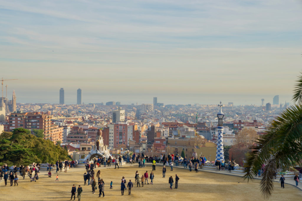 Park Güell in Barcelona. Photo by the author, all rights reserved.