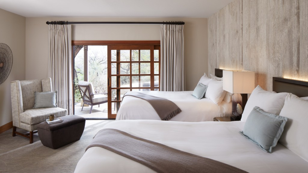 Hyatt has acquired Miraval Group for $215 million, including the resort in Arizona (room pictured). Source: Miraval Resorts
