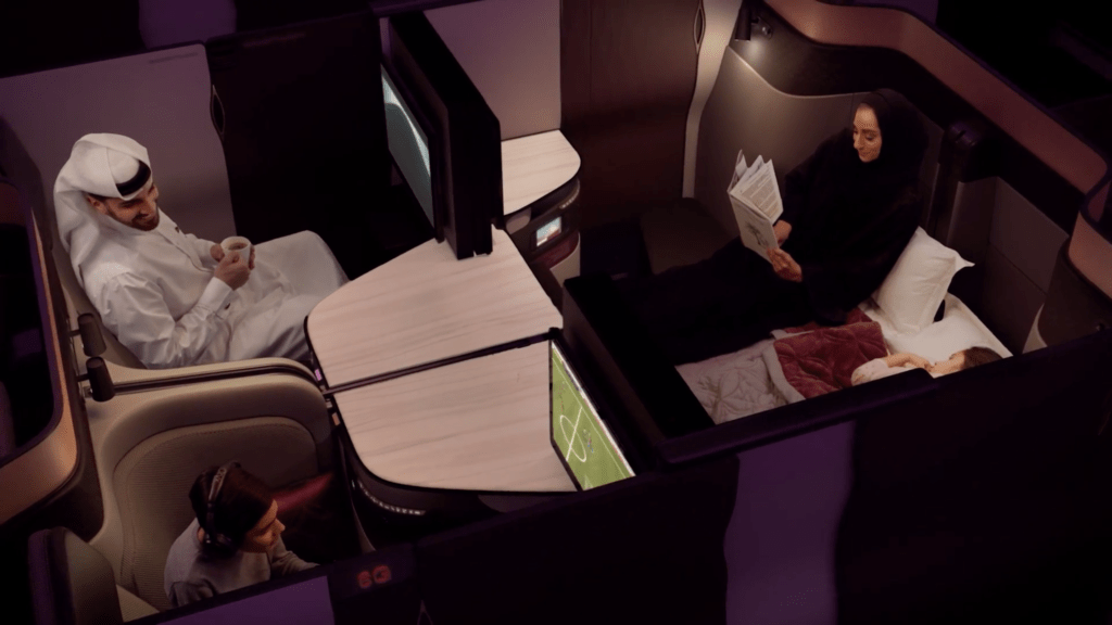 Qatar Airways' new QSuite.
