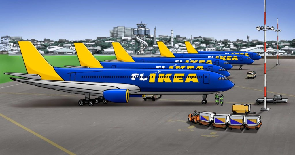 FLIKEA, Ikea's low cost carrier that will be launching in 2019! Facebook/IkeaAU