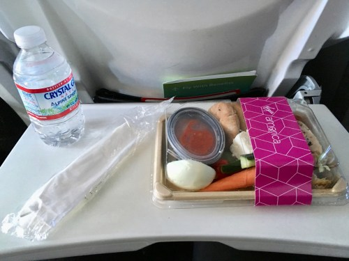My protein plate emerged from the rear of the aircraft.