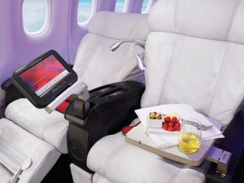 No-one holds a candle to these first class recliners. (Photo courtesy Virgin America).