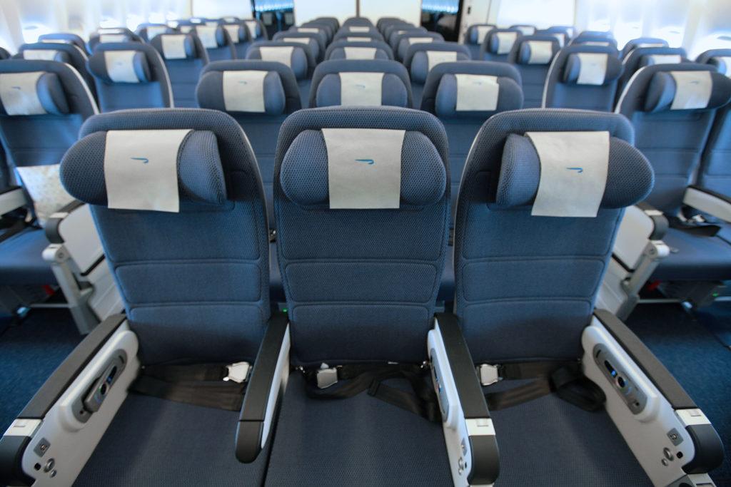 British Airways' World Traveller (Economy) Cabin onboard the Boeing 777-300ER. Save 50% on British Airways awards in Economy until December 17, 2017. Source: British Airways
