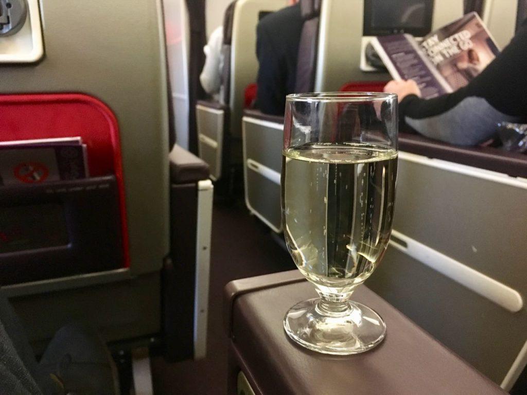 Virgin Atlantic Premium Economy Champagne Service