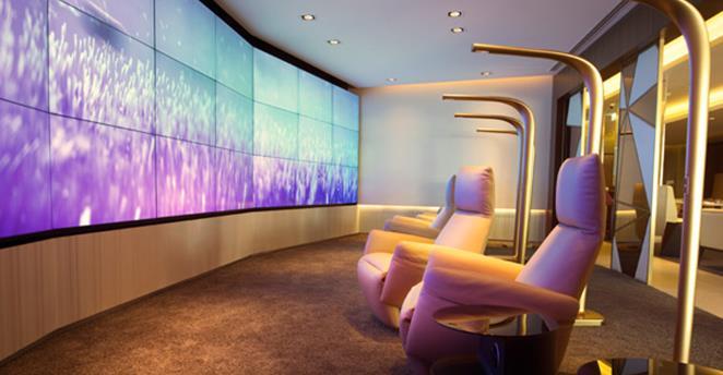 The Etihad First Class Lounge & Spa in Abu Dhabi. Source: Etihad